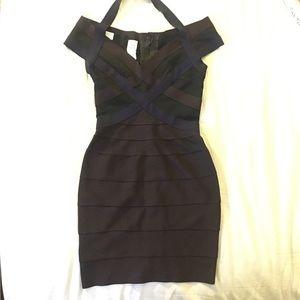 977ecff3 Herve Leger Dresses & Skirts | Herve Leger Renata Woodgrain Foil ...